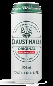 Cerveza Alemana Clausthaler sin alcohol 24 Latas 500cc