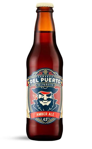 Cerveza Chilena Del Puerto Ambar Ale 24 Botellas 330cc